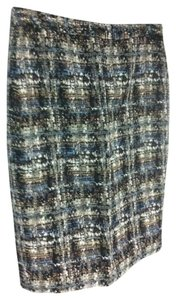 J.Crew Pencil Skirt Sky Blue Gilded Tweed