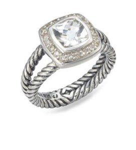 David Yurman David Yurman Petite Albion White Topaz Ring
