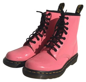Dr. Martens Patent Leather Punk Acid Pink Boots