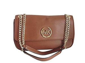 Michael Kors Leather Goldtone Shoulder Bag