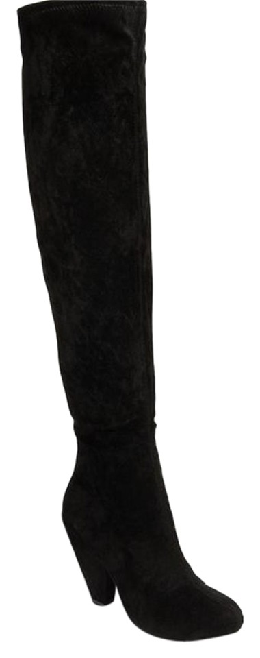 Steve Madden Black Boots/Booties Brewster Over The Knee Suede Boots/Booties Black 92e7b8
