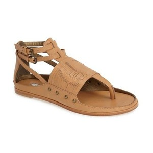 Twelfth St. by Cynthia Vincent Summer Festival Leather Tan Sandals