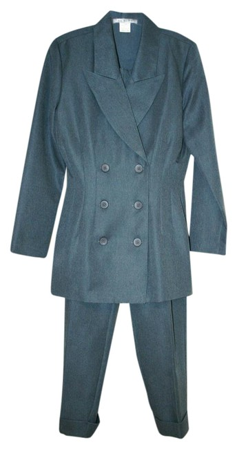 Item - Slate Blue Double Breasted Pant Suit Size 6 (S)