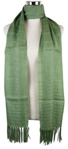 Bottega Veneta New Bottega Veneta Green Cashmere Silk Long Scarf 308378 3400