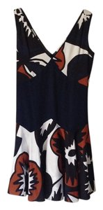 Diane von Furstenberg Dvf Silk Multi Color Knee Length Sleeveless Dress