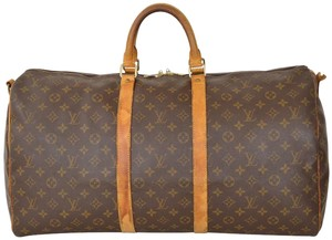 Louis Vuitton Duffle Gym Keepall Suitcase Carry On Brown Travel Bag