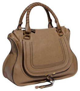 Chloé Chloe Marcie Large Tote in Nut Brown