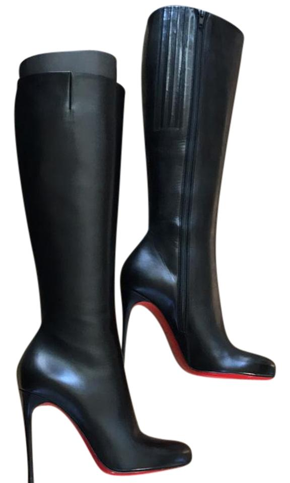 cheap for discount f83e3 124f4 Christian Louboutin Botalili Classic Black Knee High Leather Stiletto 35.5  Boots/Booties Size US 5.5 Regular (M, B) 35% off retail