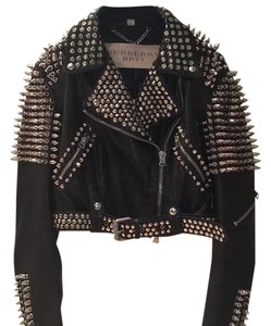 Burberry Brit Black with silver spikes Leather Jacket
