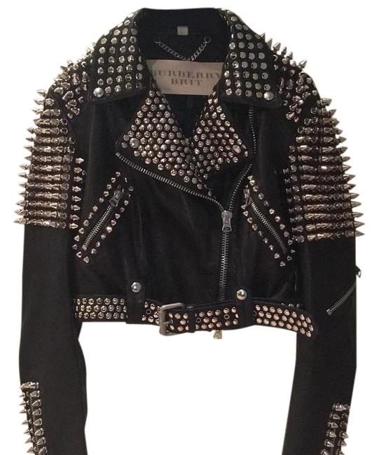 Preload https://img-static.tradesy.com/item/20181752/burberry-brit-black-with-silver-spikes-studded-motorcycle-jacket-size-6-s-0-2-650-650.jpg