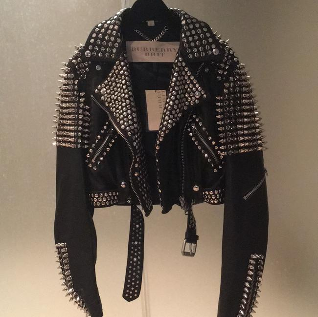 Burberry Brit Black with silver spikes Leather Jacket Image 1