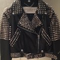 Burberry Brit Black with silver spikes Leather Jacket Image 3