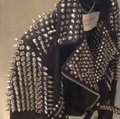 Burberry Brit Black with silver spikes Leather Jacket Image 5