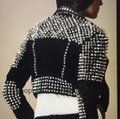 Burberry Brit Black with silver spikes Leather Jacket Image 7