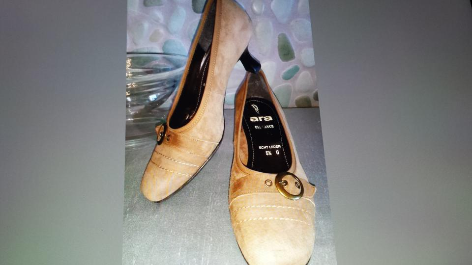 retail prices timeless design best authentic Brown Elegance Tan Suede Pumps