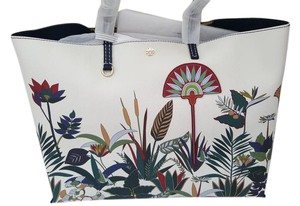 Tory Burch Floral Large Travel Classic Rare Tote in New Ivory Utopia