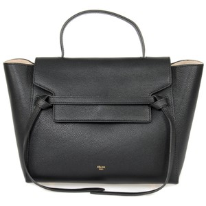 Cline Celine Belt Grained Tote in Black