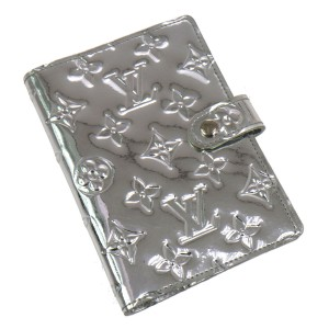 Louis Vuitton Water-resistant Vernis Silver Shiny Mirror Monogram Clutch