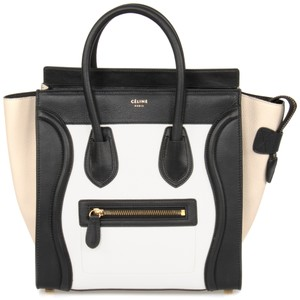 Cline Celine Luggage Micro Tote in Tri-Bone
