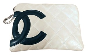 Chanel Cambon Lambskin Quilted Off White Clutch