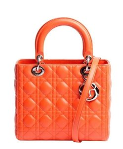 Dior Medium Lady Satchel in Orange