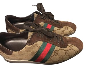 Gucci Beige and brown Athletic