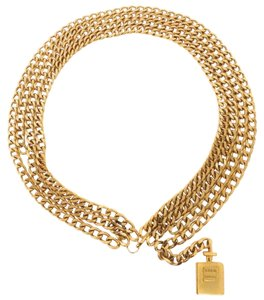 Chanel Perfume Bottle Chain Necklace 211036