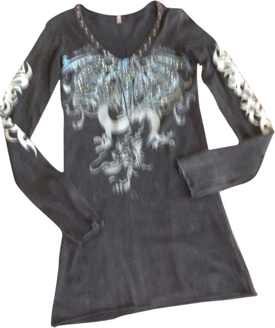 Preload https://img-static.tradesy.com/item/2018224/black-w-embellishments-bejeweled-couture-tunic-size-6-s-0-0-650-650.jpg