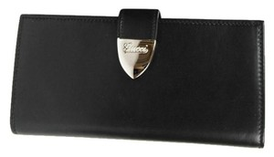 Gucci New Gucci Black Signoria Leather Clutch Continental Wallet 231837 1000