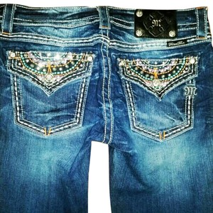 Miss Me Big Star Embellished Boot Cut Jeans-Distressed
