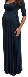PinkBlush Maternity Forest Green Long Sleeved Maxi Dress