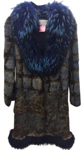 Paolo Bado Rabbit Fur Fur Coat