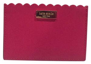 Kate Spade Nwt Kate Spade Maple Ct. Sweetheat Pink Leather Credit Card ID Wallet
