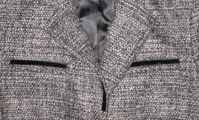 Club Monaco Velvet Trim Black, White, Grey tweed Blazer