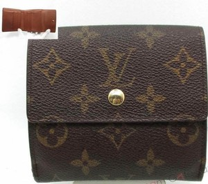 Louis Vuitton France Monogram Double Snap Wallet with coin pocket