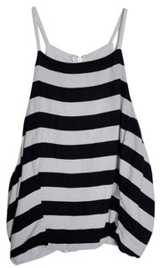 Abercrombie & Fitch Cropped Halter Striped Top Black and White