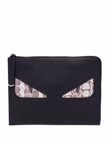 Fendi Monster black Clutch