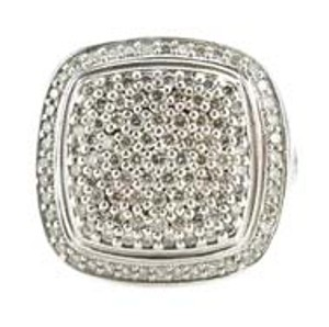 David Yurman David Yurman Sterling Silver Large Diamond Ring