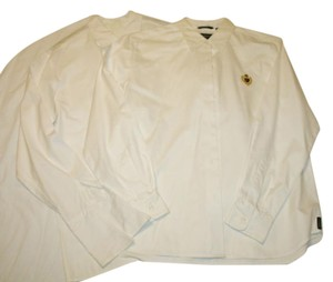 Liz Claiborne Oxford Two For One Button Down Shirt White