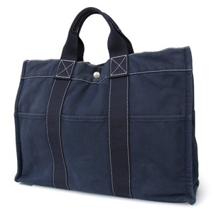 Herms Hermes Deauville Hermes Mm Tote in Navy Blue