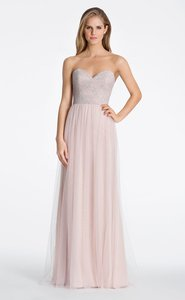 Hayley Paige Silver Lace Over Almond English Net 5609 Dress