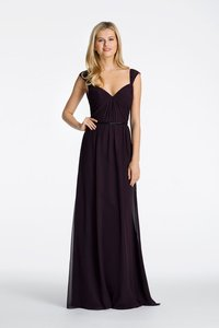 Hayley Paige Eggplant 5616 Dress