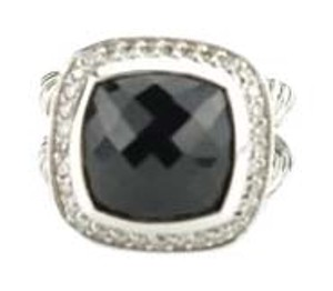 David Yurman David Yurman Sterling Silver Black Onyx & Diamond Albion Ring