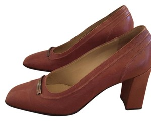 Bally Metal Adornment Rust Pumps