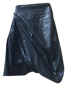 AllSaints Leather Skirt black