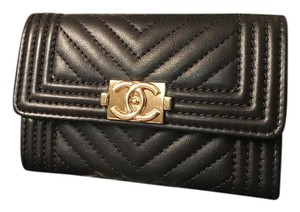 Chanel CHANEL CHEVRON CARD HOLDER