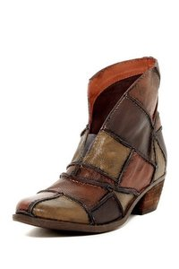 Sheridan Mia Leather Western Tan Patchwork Boots