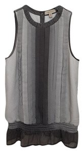 Ted Baker Striped Pleated Top grey