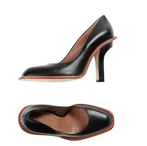 Marni Square Toe Calfskin Modern Black Pumps