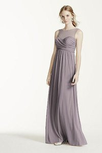 David's Bridal Pewter F15927 Dress